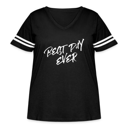 Best Day Ever RCP Shirt - Women's Curvy Vintage Sport T-Shirt