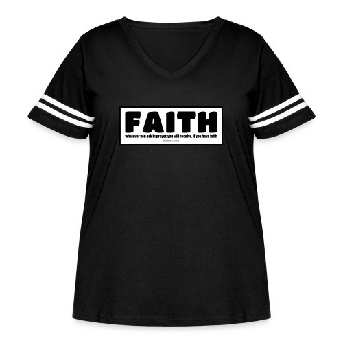 Faith - Faith, hope, and love - Women's Curvy Vintage Sport T-Shirt