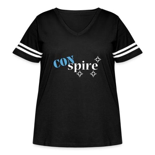 CONspire - Women's Curvy Vintage Sport T-Shirt