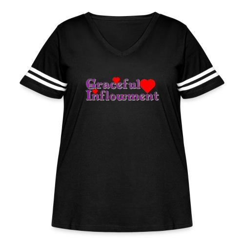 Graceful Inflowment - Women's Curvy Vintage Sport T-Shirt