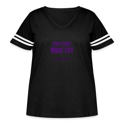 Less Stuff More Life - Women's Curvy Vintage Sport T-Shirt