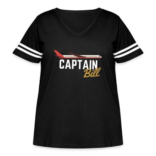 Captain Bill Avaition products - Women's Curvy Vintage Sport T-Shirt