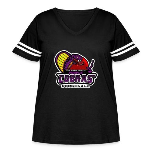 globo gym costume - Women's Curvy Vintage Sport T-Shirt
