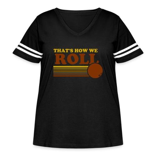 we_roll - Women's Curvy Vintage Sport T-Shirt