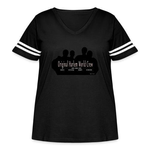 Harlem World Crew the4 - Women's Curvy Vintage Sports T-Shirt