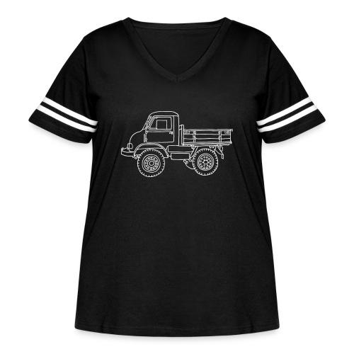 Off-road truck, transporter - Women's Curvy Vintage Sports T-Shirt