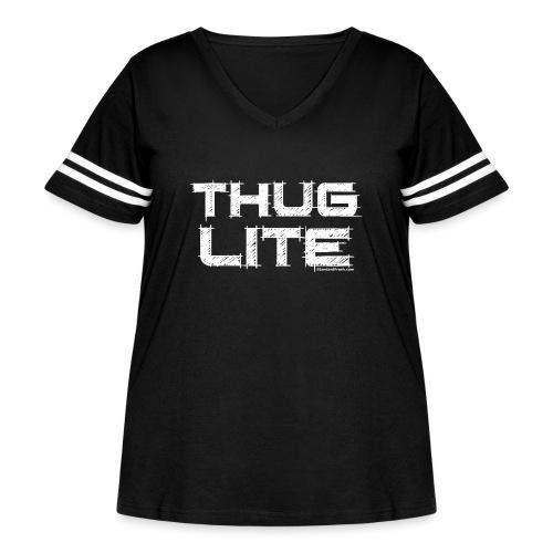 Thug Lite WHT.png - Women's Curvy Vintage Sport T-Shirt