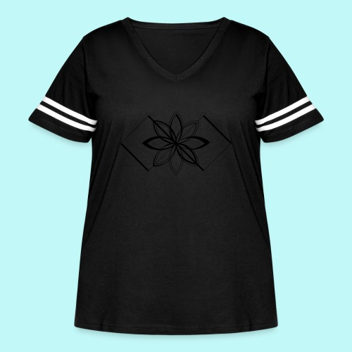 Colour Me DAIZEY Blue - Women's Curvy Vintage Sport T-Shirt