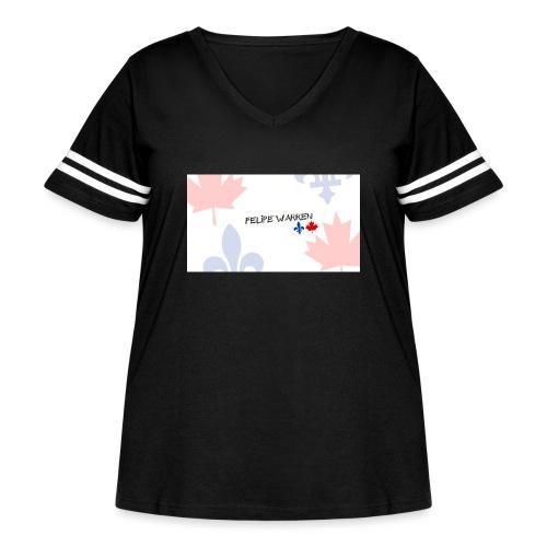 Logo do Canal - Women's Curvy Vintage Sport T-Shirt