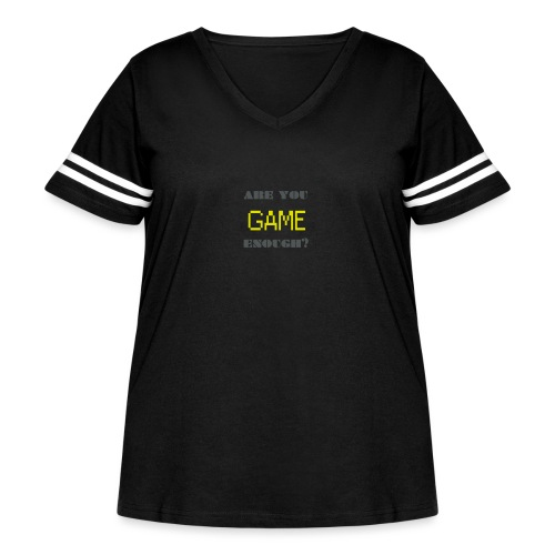 Are_you_game_enough - Women's Curvy Vintage Sport T-Shirt