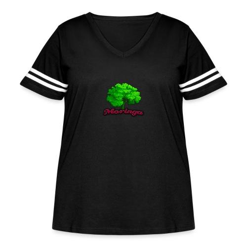 Moringa Logo Samsung S6 Case - Women's Curvy Vintage Sport T-Shirt