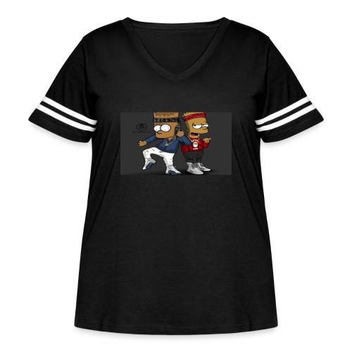 Sweatshirt - Women's Curvy Vintage Sport T-Shirt