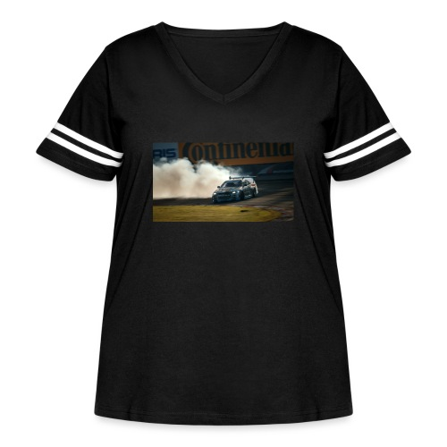 nissan skyline gtr drift r34 96268 1280x720 - Women's Curvy Vintage Sport T-Shirt