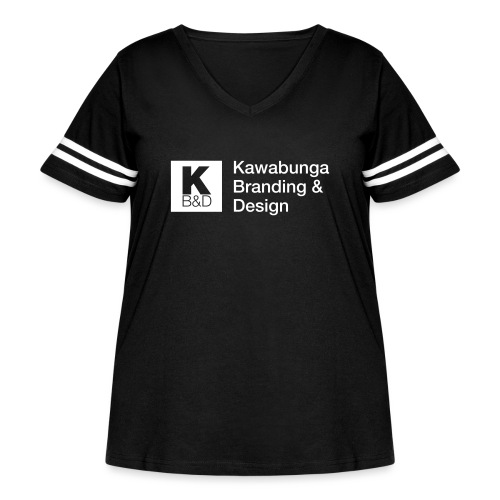 KBD Signature_blanc - Women's Curvy Vintage Sport T-Shirt
