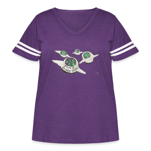 Tours of Planet Stupid - Women's Curvy Vintage Sport T-Shirt