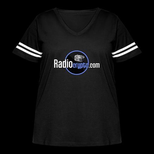 RadioCrypto Logo 1 - Women's Curvy Vintage Sport T-Shirt