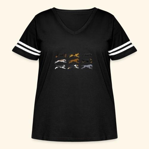 The Starting Nine - Women's Curvy Vintage Sport T-Shirt