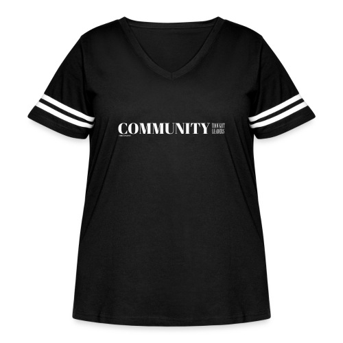 Community Thought Leaders - Women's Curvy Vintage Sports T-Shirt