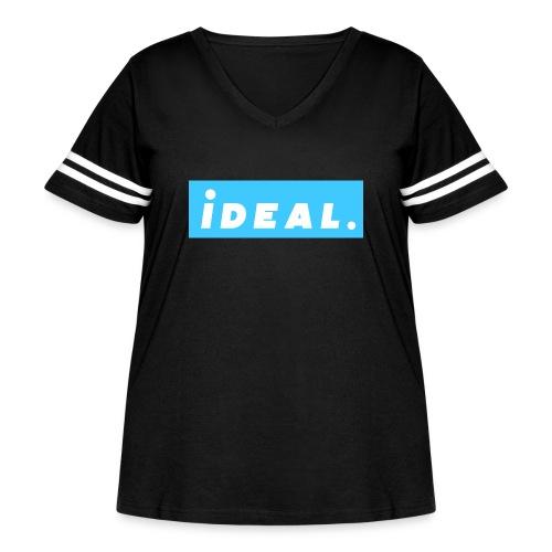 rare ideal blue logo - Women's Curvy Vintage Sport T-Shirt