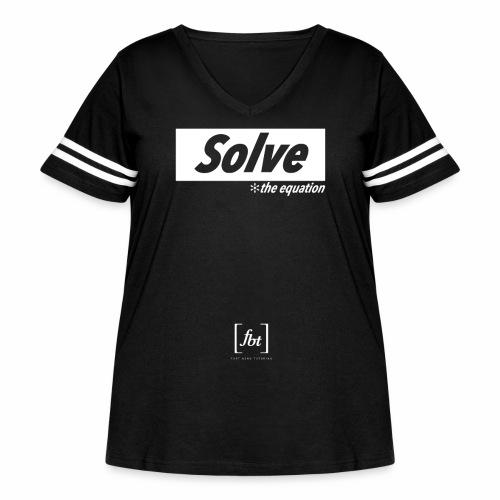 Solve the Equation [fbt] - Women's Curvy Vintage Sport T-Shirt