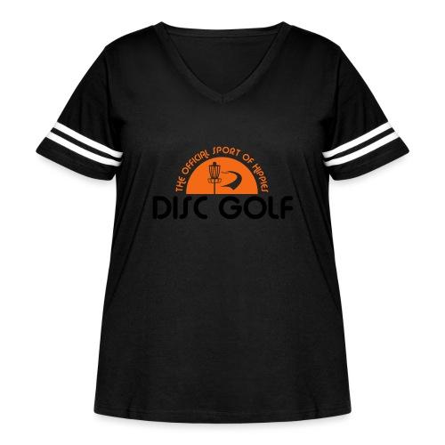 Disc Golf Official Sport of Hippies - Women's Curvy Vintage Sport T-Shirt