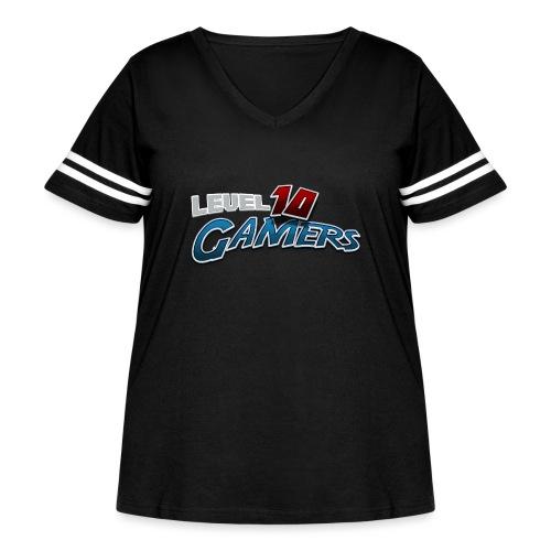 Level10Gamers Logo - Women's Curvy Vintage Sport T-Shirt