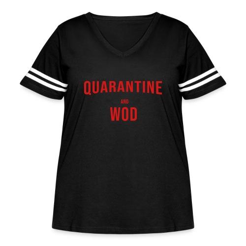 QUARANTINE & WOD - Women's Curvy Vintage Sport T-Shirt