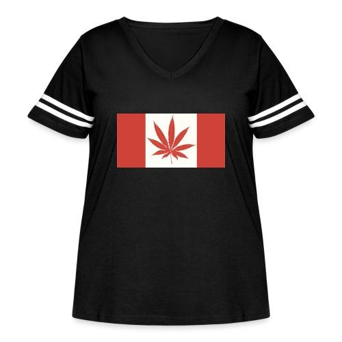 Canada 420 - Women's Curvy Vintage Sport T-Shirt