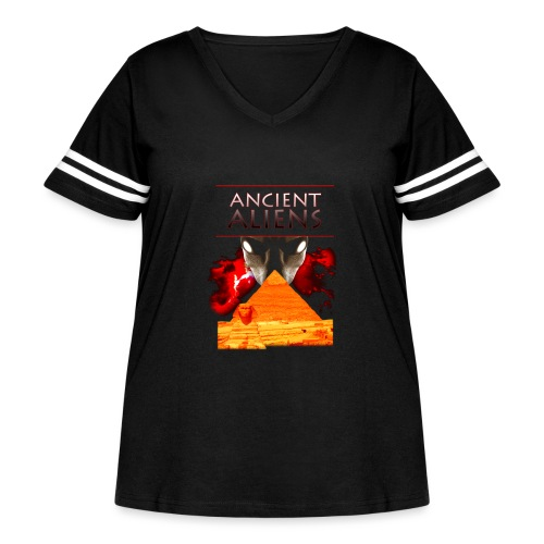 Ancient Aliens - Women's Curvy Vintage Sport T-Shirt
