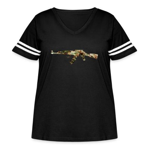 AK-47.png - Women's Curvy Vintage Sport T-Shirt