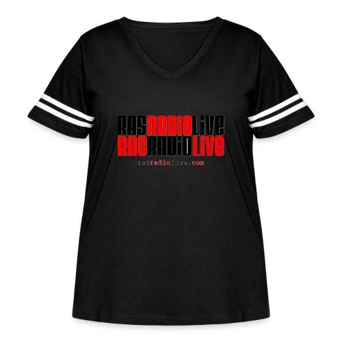rasradiolive png - Women's Curvy Vintage Sport T-Shirt