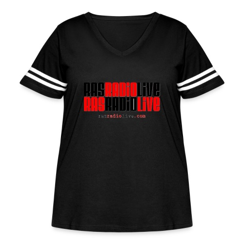 rasradiolive png - Women's Curvy Vintage Sports T-Shirt