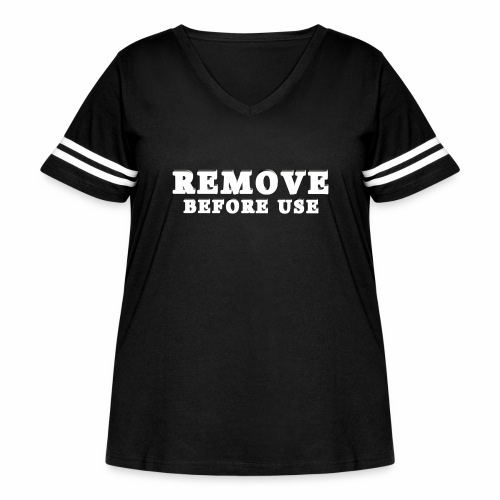 Remove Before Use for dark - Women's Curvy Vintage Sport T-Shirt