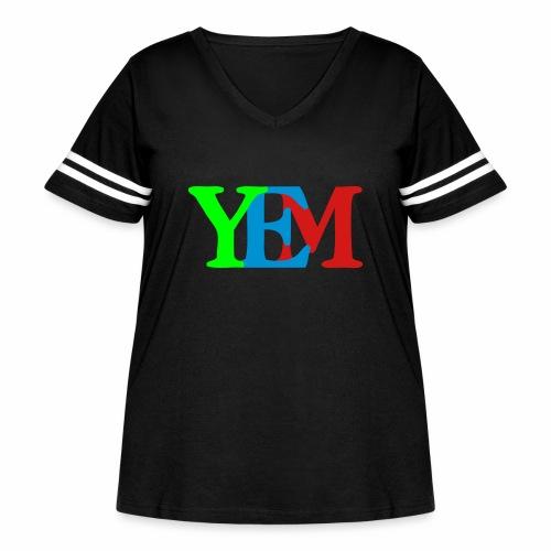 YEMpolo - Women's Curvy Vintage Sport T-Shirt