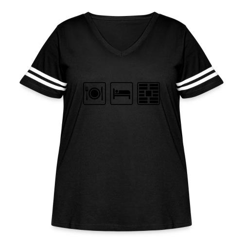 Eat Sleep Urb big fork - Women's Curvy Vintage Sport T-Shirt