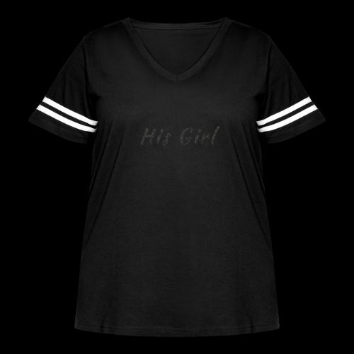 His Girl - Women's Curvy Vintage Sport T-Shirt