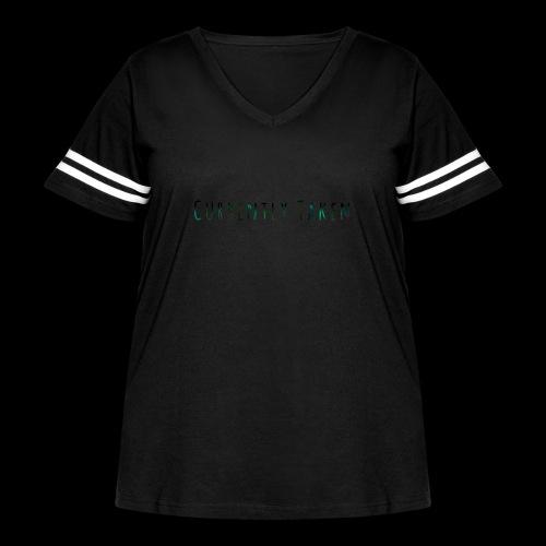 Currently Taken T-Shirt - Women's Curvy Vintage Sport T-Shirt
