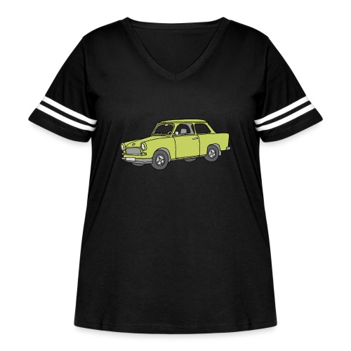 Trabant (baligreen car) - Women's Curvy Vintage Sport T-Shirt