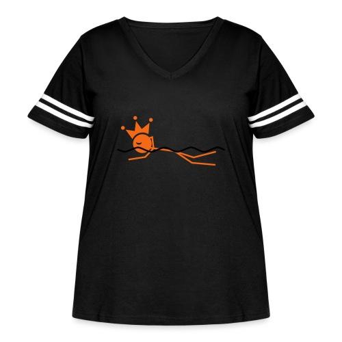 Winky Swimming King - Women's Curvy Vintage Sport T-Shirt