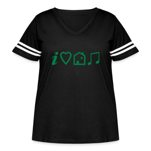 I Heart House Music - Symbolic Design 1 - Women's Curvy Vintage Sport T-Shirt