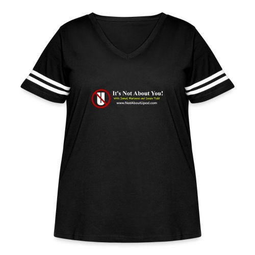 it's Not About You with Jamal, Marianne and Todd - Women's Curvy Vintage Sports T-Shirt