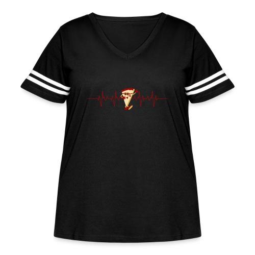 Pizza Lover - Women's Curvy Vintage Sport T-Shirt
