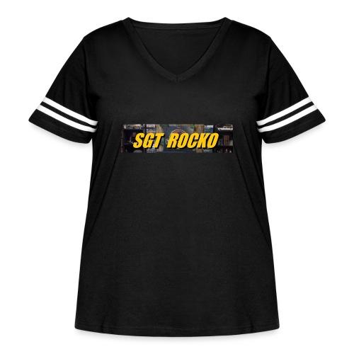 RockoWear Banner - Women's Curvy Vintage Sport T-Shirt