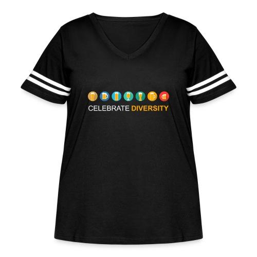 Celebrate Diversity - Women's Curvy Vintage Sport T-Shirt