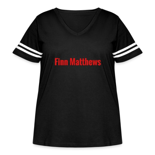 FM Logo - Women's Curvy Vintage Sport T-Shirt