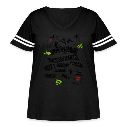 1007036867 - Women's Curvy Vintage Sports T-Shirt