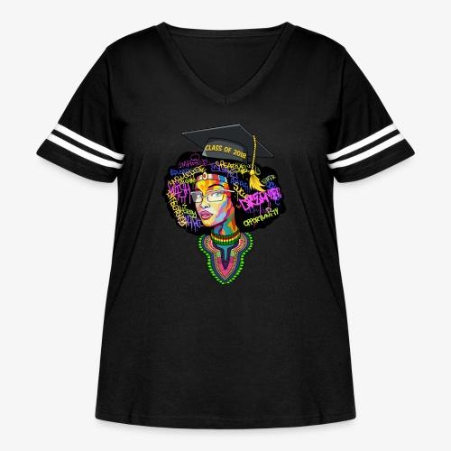 Melanin Queen Shirt - Women's Curvy Vintage Sport T-Shirt