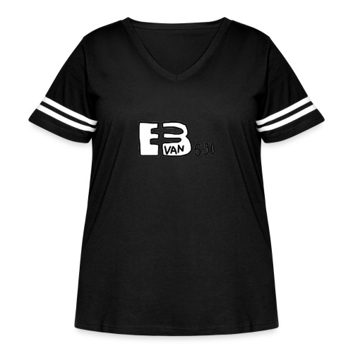 Evan3690 Logo - Women's Curvy Vintage Sport T-Shirt