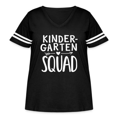 Kindergarten Squad Teacher Team T-Shirts - Women's Curvy Vintage Sport T-Shirt