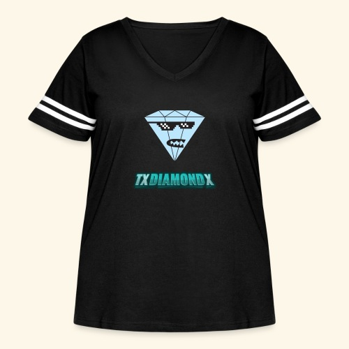 Txdiamondx Diamond Guy Logo - Women's Curvy Vintage Sport T-Shirt
